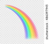transparent rainbow. vector... | Shutterstock .eps vector #486397945