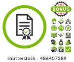 certified icon with bonus... | Shutterstock .eps vector #486407389