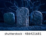 Blank Tombstone In The Dark...