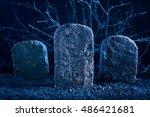 Blank tombstone in the dark...
