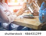 businesswoman in a meeting at a ... | Shutterstock . vector #486431299