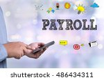 payroll person holding a... | Shutterstock . vector #486434311