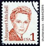 usa   circa 1986  a stamp... | Shutterstock . vector #486442894