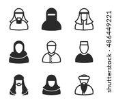 arabian man vector icons....