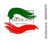 mexican restaurant logo.mexican ... | Shutterstock .eps vector #486450079