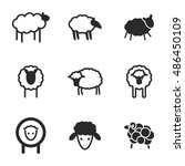 sheep  vector icons. simple...