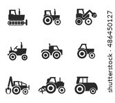 tractor vector icons. simple... | Shutterstock .eps vector #486450127