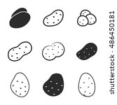 potato vector icons. simple...
