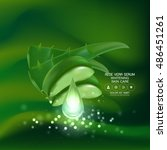aloe vera collagen serum and... | Shutterstock .eps vector #486451261