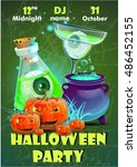 halloween party poster... | Shutterstock .eps vector #486452155