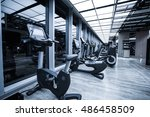 fitness club in luxury hotel... | Shutterstock . vector #486458509