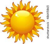 aqua sun isolated on withe... | Shutterstock . vector #48645865