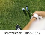 Woman Golf Player Concentratin...