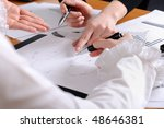 hands of business women are... | Shutterstock . vector #48646381