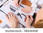 hands of business women are... | Shutterstock . vector #48646408