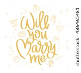 will you marry me. the trend... | Shutterstock .eps vector #486465481