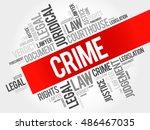 crime word cloud concept | Shutterstock . vector #486467035