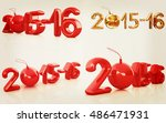 happy new 2016 year set. 3d... | Shutterstock . vector #486471931
