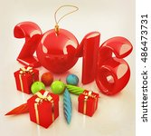 happy new 2016 year. 3d... | Shutterstock . vector #486473731