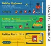 tree welder horizontal banners... | Shutterstock . vector #486479014