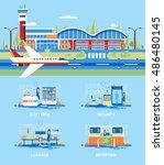 set stock vector illustration... | Shutterstock .eps vector #486480145