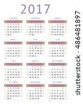 calendar for 2017 on white... | Shutterstock .eps vector #486481897