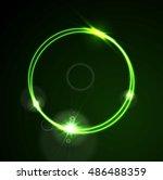 glow green neon bright ring... | Shutterstock .eps vector #486488359