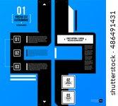 modern corporate graphic design ... | Shutterstock .eps vector #486491431