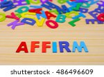 Small photo of Colorful alphabet with word affirm