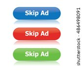 skip ad buttons | Shutterstock .eps vector #486498091