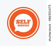 self service sign icon.... | Shutterstock .eps vector #486501475