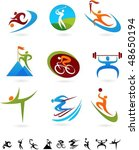 set of colorful sport icons   2 | Shutterstock .eps vector #48650194