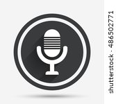 microphone icon. speaker symbol.... | Shutterstock .eps vector #486502771
