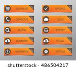 orange web buttons  high... | Shutterstock .eps vector #486504217