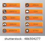 orange web buttons  high... | Shutterstock .eps vector #486504277