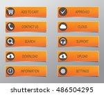 orange web buttons  high... | Shutterstock .eps vector #486504295