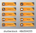 orange web buttons  high... | Shutterstock .eps vector #486504355