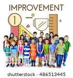 improvement deevlopement... | Shutterstock . vector #486513445