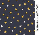 cute stars   seamless pattern ... | Shutterstock .eps vector #486513481