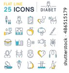 set vector line icons in flat... | Shutterstock .eps vector #486515179