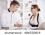 attractive european business... | Shutterstock . vector #486520819