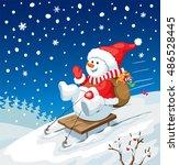 vector christmas illustration.... | Shutterstock .eps vector #486528445