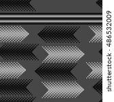 seamless horizontal arrows ... | Shutterstock . vector #486532009