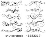 set of swirl design elements