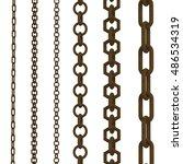 3d rendering rusty chains... | Shutterstock . vector #486534319