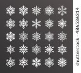 cute snowflake collection... | Shutterstock .eps vector #486536314