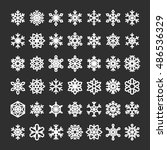 cute snowflake collection... | Shutterstock .eps vector #486536329