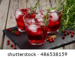 refreshing drink with... | Shutterstock . vector #486538159