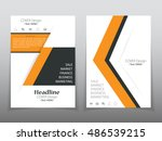 business brochure flyer banner... | Shutterstock .eps vector #486539215