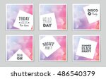 abstract vector layout... | Shutterstock .eps vector #486540379
